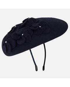 Mayoral Girls Navy Beret And Flower Size 51 | 10722 087 Navy