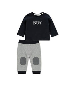 Noppies Boys Knit Romper Size 1m-18m | 94660 Navy