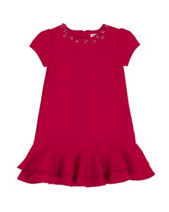 Deux par Deux Girls Red Ruffle Dress Size 4-10 | B20N92 730C Red