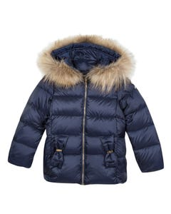 Lili Gaufrette  Girls Down Jacket Size 2-12 | GP42042 491 Navy