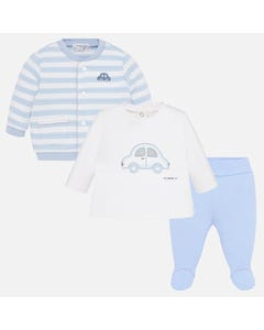 Mayoral Boys 3Pc Tracksuit Size 1m-9m | 2619 078 Blue