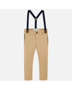 Mayoral Boys 2Pc Pant And Suspenders Size 2-9 | 4522 025 Beige