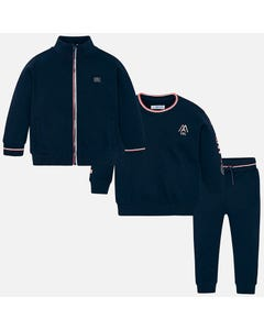 Mayoral Boys 3Pc Tracksuit Size 2-9 | 4805 035 Navy