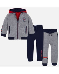 Mayoral Boys 3Pc Tracksuit Size 2-9 | 4812 079 Grey