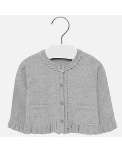 Mayoral Girls Grey Trim Cardigan Size 6m-36m | 2315 034 Grey