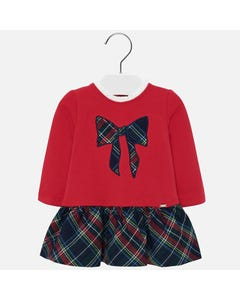 Mayoral Girls Red Navy Plaid Dress Size 6m-36m | 2927 074 Red