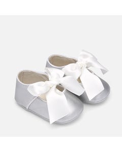 Mayoral Girls Silver Mary Jane Shoe Size 15-19 | 9214 095 Silver