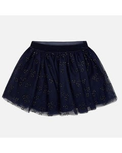 Mayoral Girls Navy Tulle Skirt Size 2-9 | 4901 049 Navy