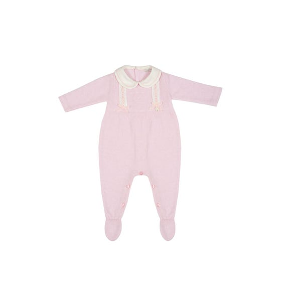 Dr Kid Girls Pink Knit Romper Size 1m-12m | 151 252 Pink