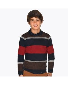 SWEATER NAVY & MCL STRIPES LONG SLEEVE KNIT