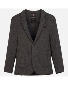 JACKET BLACK GREY PRINTED TAILORING 2 POCKETS