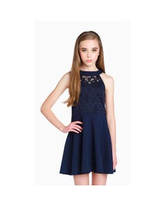Sally Miller Girls Ruby Dress Size XS-L | SMYC3341 Navy