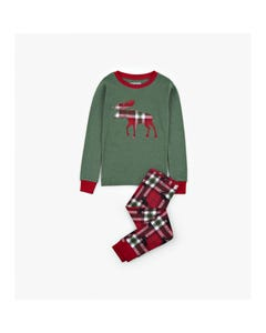 Hatley Unisex 2Pc Kids Pyjama Set Size 2-10 | PJCWIM0209 Green