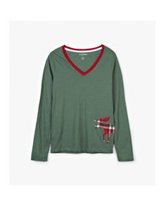 Hatley Girls Womens Plaid T-Shirt Size XS-XL | TSIWIM0209 Green
