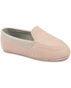SHOE IVORY SLIP ON BOYS