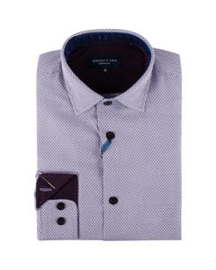 Leo & Zachary Boys Shirt Wine Black Grid Size 8-16 | Infant Boys Dresswear 5814 Purple