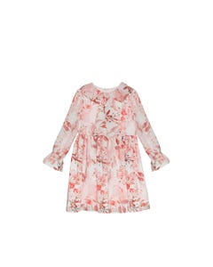 Patachou Girls Dress Pink Flower Print Long Sleeve Rstone Pin Size 2-12 | Girls Party Dresses 3133513 Pink