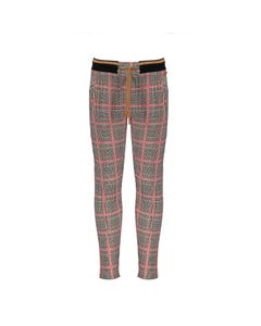 NoNo Girls Pant Red & Black Check Pull Tie Waist Size 6-14 | Sports Shorts For Girls 5600 Plaid