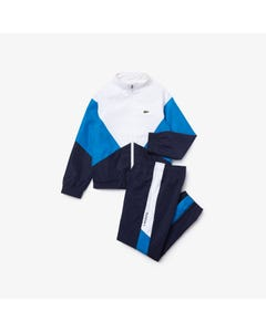 Lacoste Boys 2 Pc Track Suit White Blue Navy Size 2-16 | Junior Tracksuits WJ1204 Multi