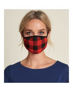 Hatley Unisex Face Mask Non Medical Plaid Buffalo Red & Black Size S-L | Kids Accessories Online FMOPLAD Plaid