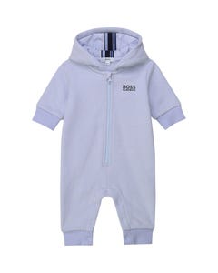 Hugo Boss Girls Romper Blue Hooded All In One Front Zip Closure Size 1m-18m | Infant Rompers 94267 Blue