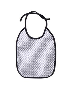 Hugo Boss Boys Bib White B & H Print All Over Navy Trim Size OS | Baby Bibs 98298 White