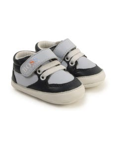 Hugo Boss Boys Shoe High Cut Navy & Blue Baby Size 16-18 | Infant Shoes 99083 Navy