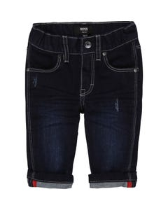 Hugo Boss Boys Jean Pant Dark Navy Denim Slim Fit White Stitch Size 6m-3 | Infant Pants 4383 Denim