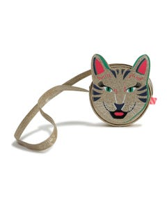 Billieblush Girls Handbag Golden Cat Face Size OS | Childrens Purses 10368 Gold