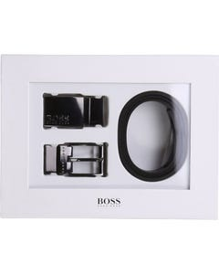 Hugo Boss Boys Belt Black Reversible Size 65-90 | Belts For Kids 20273 Black