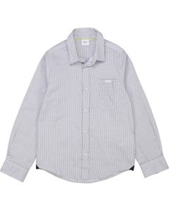 Hugo Boss Boys Shirt White H & B Small Print Allover Long Sleeve Size 4-16 | Kids Formal Clothing 25G55 White
