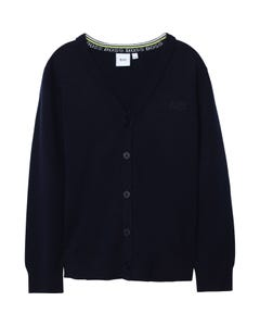 Hugo Boss Boys Cardigan Navy Knit Size 8-16 | Boys Sweaters 25G75 Navy