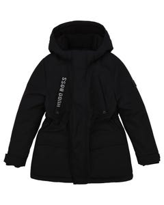 Hugo Boss Boys Parka Black Hooded Size 4-12 | Toddler Boys Outerwear 26413 Black