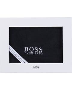 Hugo Boss Boys Blanket Navy Knit White Logo Cotton Cashmere Size OS | Baby Blankets 90163 Navy