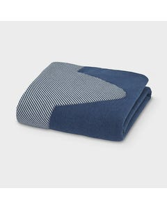 Mayoral Boys Blanket Navy & Stripe Size OS | Infant Boy Blankets 9779 Navy