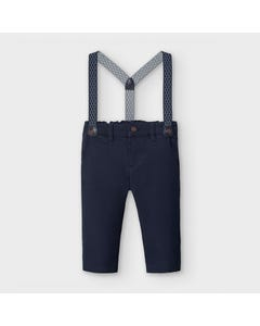 Mayoral Boys Pant & Belt Navy Chino Regular Fit Size 6m-36m | Toddler Shorts 2575 Navy