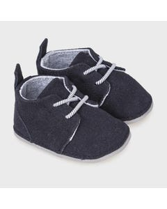 Mayoral Boys Shoe Navy Suede With Striped Laces Size 15-19 | Shoes For Infants 9331 Navy