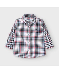 Mayoral Boys Shirt Red Check Long Sleeve Size 6m-36m | Baby T Shirts 2133 Multi