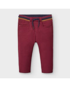 Mayoral Boys Jogger Red Pull Waist Size 6m-36m | Baby Pants 2578 Red