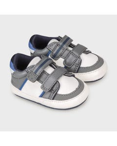 Mayoral Boys Shoe Grey & White Velcro Closure Size 15-19 | Toddler Shoes 9333 Grey