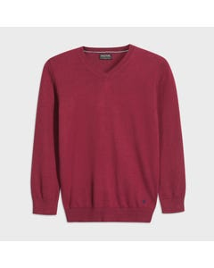 Mayoral Boys Sweater Burgundy Vneck Cotton Long Sleeve Size 8-18 | Boys Sweaters 354 Red