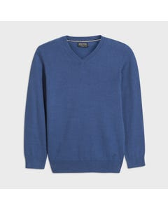 Mayoral Boys Sweater Blueberry Vneck Cotton Long Sleeve Size 8-18 | Kids Sweaters Boys 354 Blue