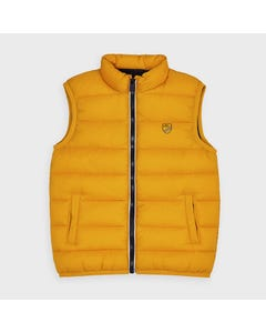 Mayoral Boys Vest Gold Zip Closure Quilted Size 2-9 | Baby Boy Vests 4334 Gold