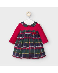 Mayoral Girls Dress Red Top Plaid Skirt Green & Navy Size 3m-18m | Infant Dresses 2873 Red
