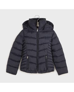 Mayoral Girls Jacket Navy Hooded Removable Size 8-18 | Outerwear For Baby Girls 416 Navy