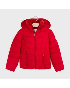 Mayoral Girls Jacket Red Removable Hood Size 8-18 | Gitls Outerwear 416 Red