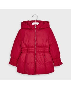 Mayoral Girls Jacket Red Hooded Velour Lining Size 2-9 | Kids Coats 415 Red