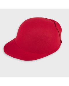 Mayoral Girls Hat Red Felt Bow Trim Size 51-58 | Kids Hats 10906 Red