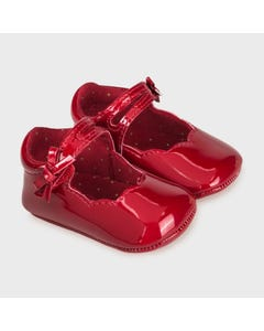 Mayoral Girls Shoe Red Patent Leather Mary Jane Scalloped Edge Size 15-19 | Shoes For Infants 9342 Red