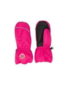 Deux par Deux Girls Mitten Hot Pink Winter Waterproof Size 3-7 | Kids Gloves 10XM202 Pink